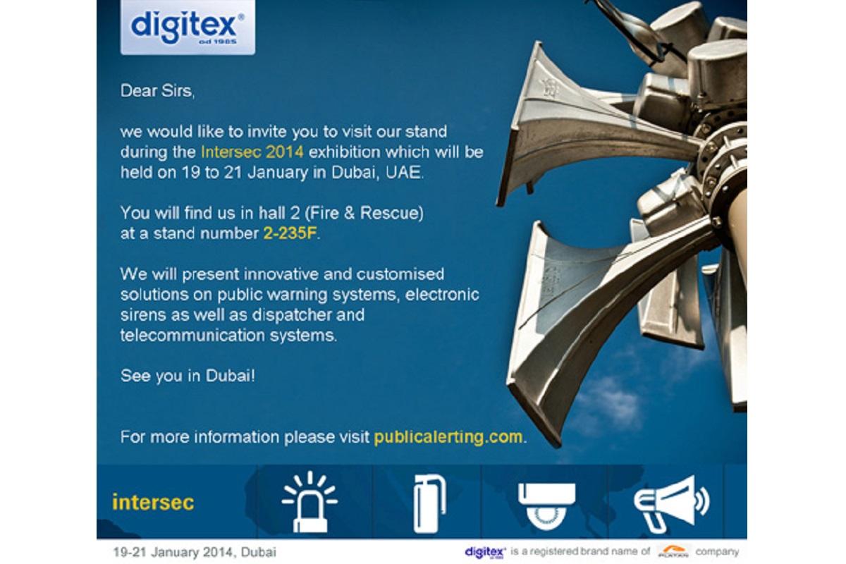 DIGITEX – invitation to the Intersec 2014
